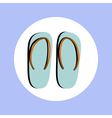 flip flops in circle vector image