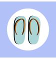 flip flops in circle vector image