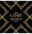 gatsby art deco vector image vector image