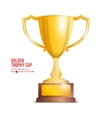 Golden Trophy Cup Isolated On White Background vector image vector image