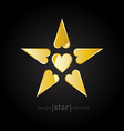 Golden Valentines Day Star vector image vector image