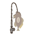 grouper fish side view sea life fishing rod vector image