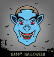 Halloween dracula head vector image