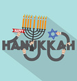 Happy Hanukkah Typography Design vector image
