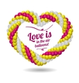Heart made from balloons for the wedding ceremony vector image vector image