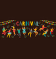 hello carnival of funny vector image