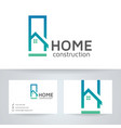 home construction logo design vector image vector image