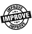 improve round grunge black stamp vector image vector image