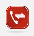 incoming and outgoing call Color square icon vector image