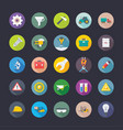 industrial and construction flat icons vector image