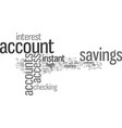 instant access savings accounts vector image vector image