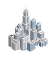 isometric city building vector image