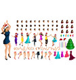 isometry constructor dancing character emotions vector image