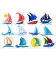 logos of sailing vessels vector image