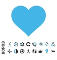 Love Heart Flat Icon With Bonus vector image