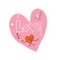 love heart shaped design vector image vector image