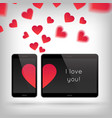 love on gadget vector image