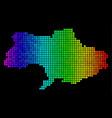 luminous abstract ukraine map vector image vector image
