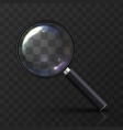 magnifying glass art vector image