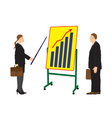 Meeting two businessmen vector image vector image
