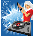 musical snowflake vector image vector image