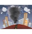 Powerful Tornado vector image