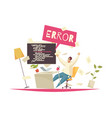 programmer office concept vector image vector image