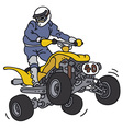 Racer on the ATV vector image vector image