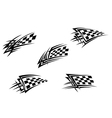 Racing flags in tribal style vector image vector image
