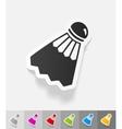 realistic design element shuttlecock vector image vector image
