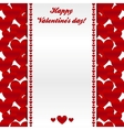 Red hearts valentines day greeting card vector image vector image