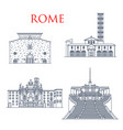 rome architecture landmarks famous buildings vector image vector image