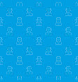 scientist pattern seamless blue vector image vector image