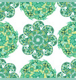 seamless ornamental pattern with circle pattern vector image