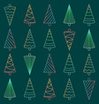 seamless pattern with neon christmas trees vector image