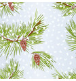 seamless texture pine tree with snow and pine vector image vector image