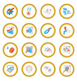 seo 16 cartoon icon circle vector image
