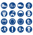 set of mandatory safety equipment signs vector image