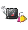 shopping cartoon f2 button on keyboard vector image