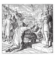 st pauls arrival at rome in chains vintage vector image