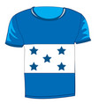t-shirt with flag honduras vector image