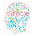 The future of ecommerce store development text vector image vector image