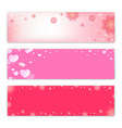 valentines day background love symbol banner vector image vector image