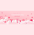 valentines day banner with symbols holiday vector image