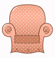 Vintage brown dotted chair isolated on white vector image vector image