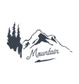 vintage mountain logo type nature traveling vector image vector image
