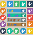 Watering can icon sign Set of twenty colored flat vector image