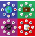 Set of web and business concepts vector image