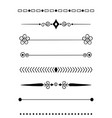 0009 hand drawn dividers vector image vector image
