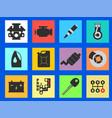 12 service car flat icon vector image vector image